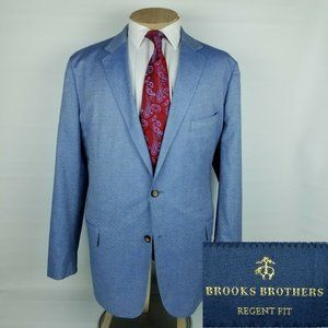 Brooks Brothers Mens Sport Coat 48R Regent Cotton